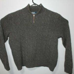 Polo By Ralph Lauren Cable Knit 100% Lambs Wool